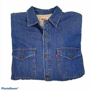 Men's Levi's Sherpa Lined Denim Shirt Jacket Large